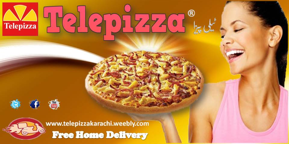 Telepizza pizza and fast food home delivery in Karachi
